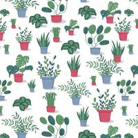 Potted Plants Pattern vector