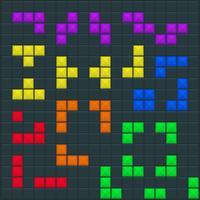 Modello quadrato di gioco tetris