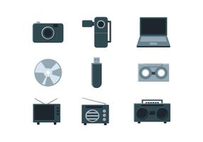 Vecteur d'icône multimédia