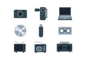 Icono multimedia vector
