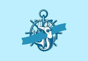 Illustrazione vettoriale di sirena