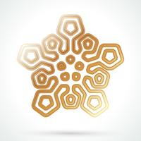 Icona del fiocco di neve d'oro