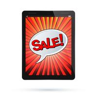 Tablet sale vector
