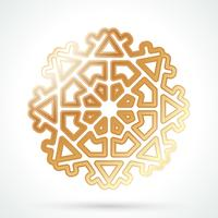 Gold snowflake icon
