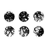 Progettazione stabilita dell'illustrazione del modello di vettore astratto del cerchio di lerciume. Vettore ENV 10.