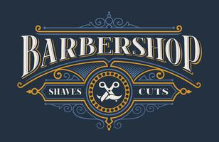 Vintage lettering for the barbershop