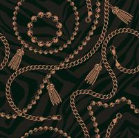 Seamless pattern of chains  vector
