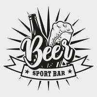 Embleem voor bierbar op witte achtergrond