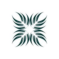 Abstract Palm Leaf Logo Template Illustration Design. Vector EPS 10.