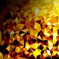 Gelber polygonaler Mosaik-Hintergrund, kreative Design-Schablonen