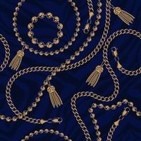 Seamless pattern of chains