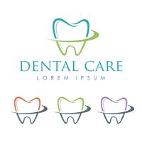 Dental Care Tand Smile Logo Mall Illustration Design. Vektor EPS 10.