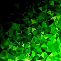 Fond de mosaïque polygonale verte, modèles de conception créative