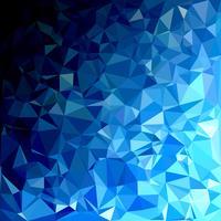 Fond de mosaïque polygonale bleue, modèles de conception créative