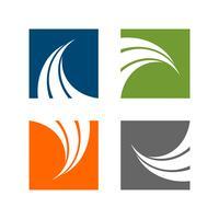 set Swoosh in Color Square Logo Template Illustration Design. Vector EPS 10.
