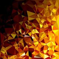 Fond de mosaïque polygonale jaune, modèles de conception créative