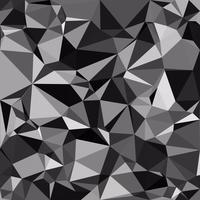 Fond de mosaïque polygonale noire, modèles de conception créative