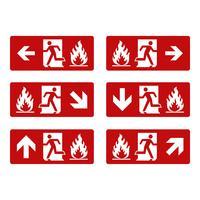 Fire Exit Vector Signage Illustration Design. Vektor EPS 10.
