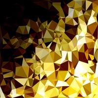 Fondo amarillo mosaico poligonal, plantillas de diseño creativo vector