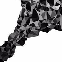 Sfondo nero mosaico poligonale, modelli di design creativo