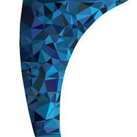 Blauwe veelhoekige mozaïek achtergrond, creatief ontwerpsjablonen