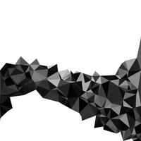Black Polygonal Mosaic Background, Creative Design Templates vector