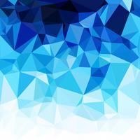 Blue Polygonal Mosaic Background, Creative Design Templates vector