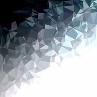 Fondo poligonal gris blanco, plantillas de diseño creativo vector