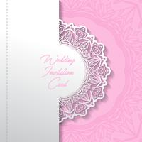 wedding invitation card paper cut design