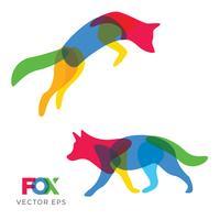 Fox criativo, projeto animal de lobo, vetor eps 10