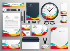 colorful business stationery set