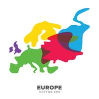 Creative Europe Map Vector, vector eps 10