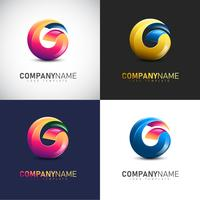 Abstract 3D Letter G logo Template for your Company Brand vector