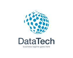 Data Technology Logo Icon Vector