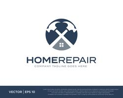 Home Repair Build Logo Icon Vector