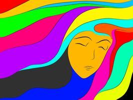 färgglada drömabstrakt