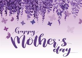 mothers day greeting card. happy mother s day elegant calligraphy banner lettering vector text in frame background.