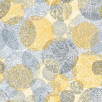 Fingerprint seamless background on square shape.