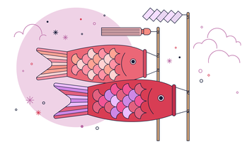 Fish Kite Vector