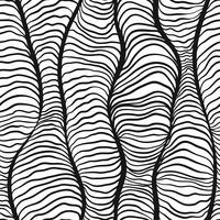 Monochrome doodle abstracte naadloze achtergrond.