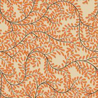 Seamless orange floral background on vector illustration.