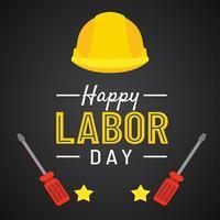 1 maj arbetsdagen affisch, vektor illustration, Happy Labour Day banner. 1 maj. Designmall. Vektor illustration - Vektör
