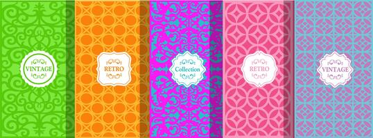 set of cute bright seamless patterns vector illustration bright design abstract seamless.