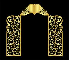 wedding arch gate vector template for laser cutting from vinyl the decor is a stylized openwork pattern of. laser cut template gate.