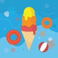 Summer Ice Cream Vector