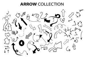 arrows isolated on white background. Vector illustration.