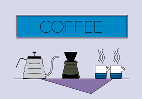 Free Coffee Set Vector