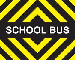 Autobús escolar amarillo flecha negra. vector