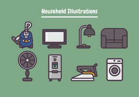 Household Illustrations vector