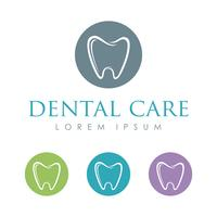 Dental Care Logo Mall Illustration Design. Vektor EPS 10.